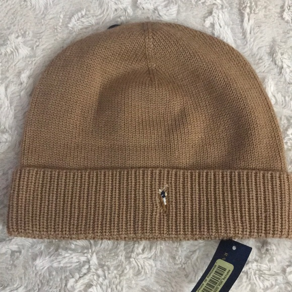 Polo Ralph Lauren Merino Wool Knit Beanie Hat 8748417221f